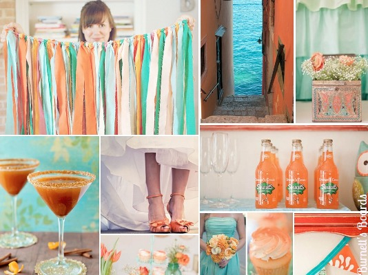 orange-and-aqua-wedding